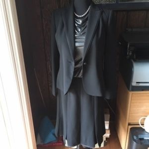 Calvin Klein Black Skirt Suit-Size 10 New w/tag